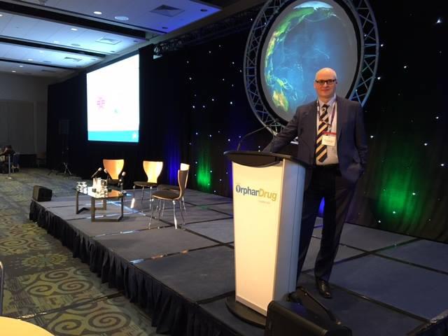 Adam Barak presenting at the World Orphan Drugs Conference, Washington, USA. April 2016