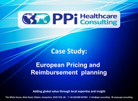 European Pricing and Reimbursement planning